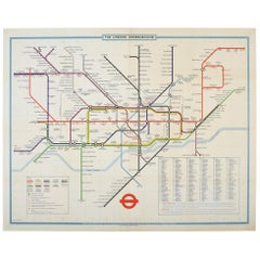 Original Vintage The London Underground Poster London Transport Tube Map Railway