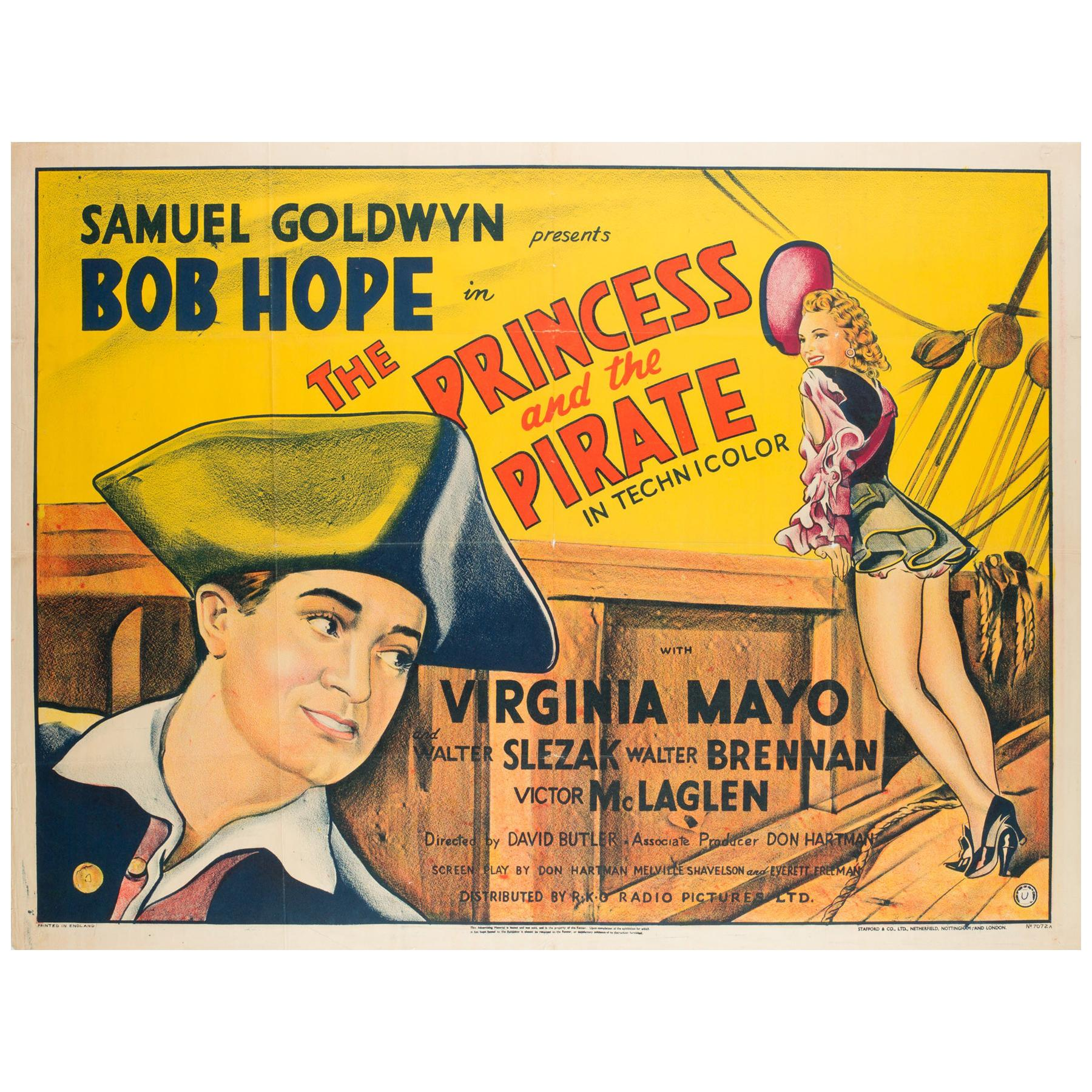 "Original Vintage ""The Princess and the Pirate"" UK Film Poster, Bob Hope, 1944"