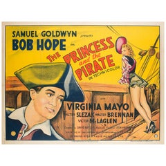 "Original Vintage ""The Princess and the Pirate"" UK Film Poster, Bob Hope, 1944"
