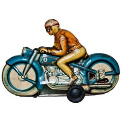 Original Vintage Toy, Friction Motorcyclist, 1960s
