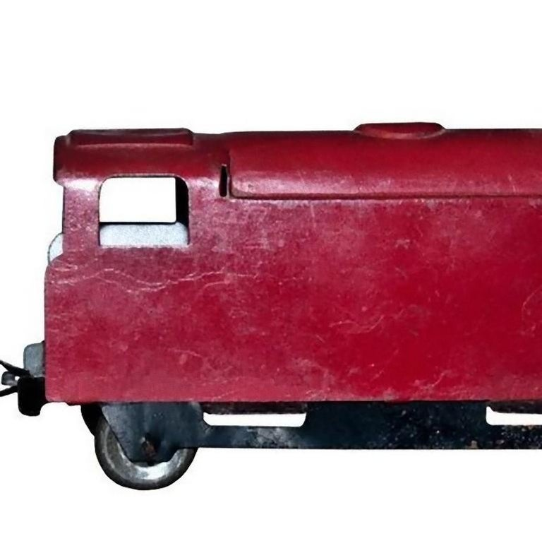 German Original Vintage Toy, Small Train and Trailer, 1920s For Sale