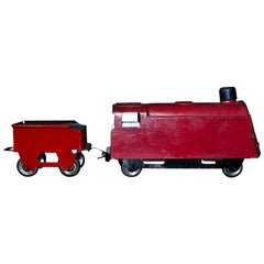 Original Vintage Toy, Small Train and Trailer, 1920s