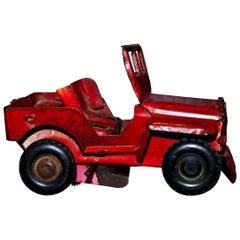 Original Vintage Toy, Wind Up Jeep Car