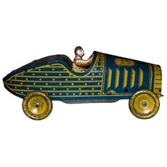 Original Vintage Toy, Wind up J.M.L. Car, Made in France, 1930s