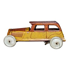 Original Vintage Toy, Wind up RG Car, Made in France, 1930s