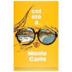 Original Vintage Travel Poster Cet Ete Monte Carlo Summer Resort Monaco Riviera