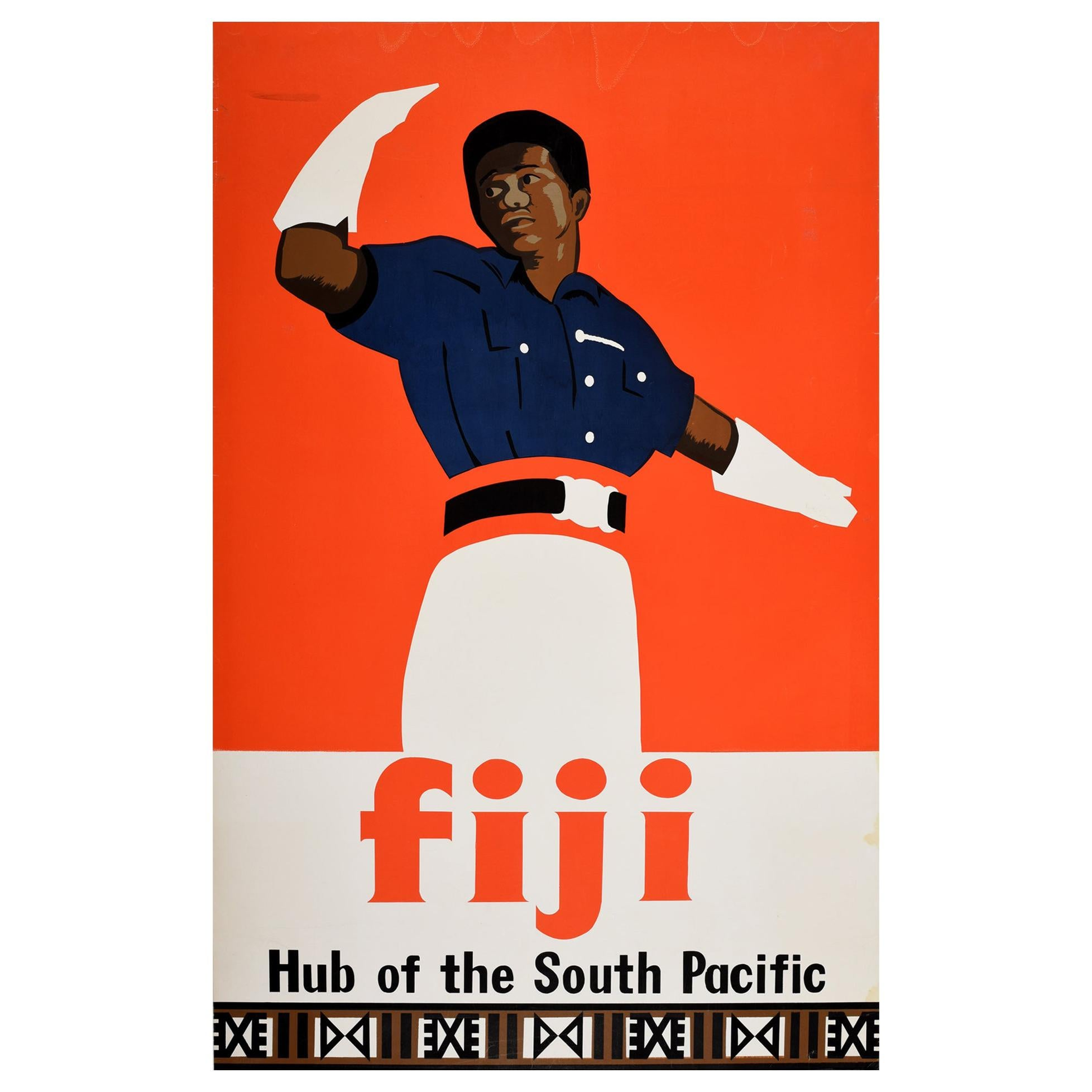 Original Vintage Travel Poster For Fiji Hub Of The South Pacific Ocean Islands