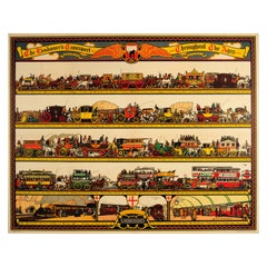 Original Vintage Underground Poster The Londoner's Transport Throughout The Ages