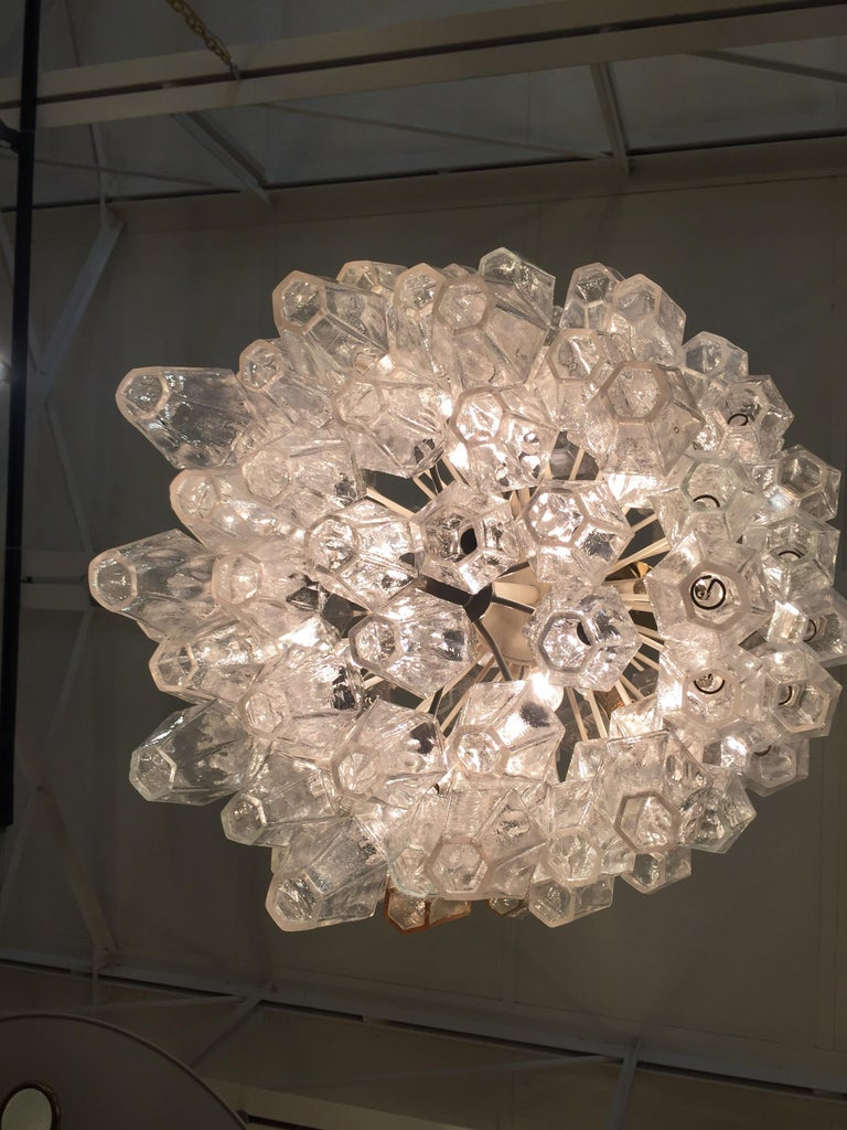 Original Vintage Venini Polyhedral Chandelier In Good Condition For Sale In East Hampton, NY