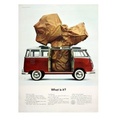 Original Vintage Volkswagen Poster VW Camper Van Station Wagon Car - What Is It?