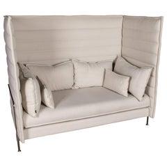 Original Vitra Alcove Work High Back Sofa Chrome