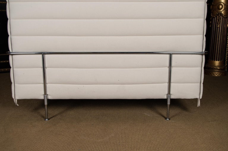 Original Vitra Alcove Work High Back Sofa Chrome 10