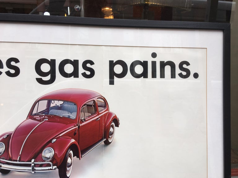 Mid-Century Modern Original VW 1960's Dealer  Poster For Sale