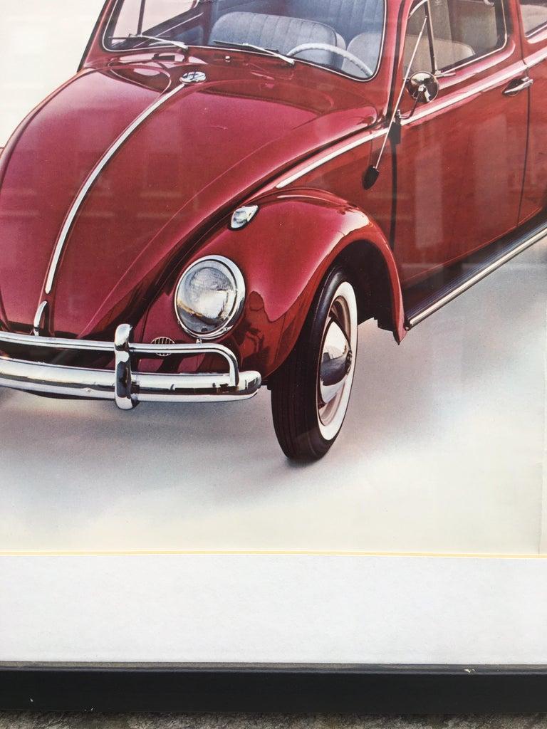 American Original VW 1960's Dealer  Poster For Sale