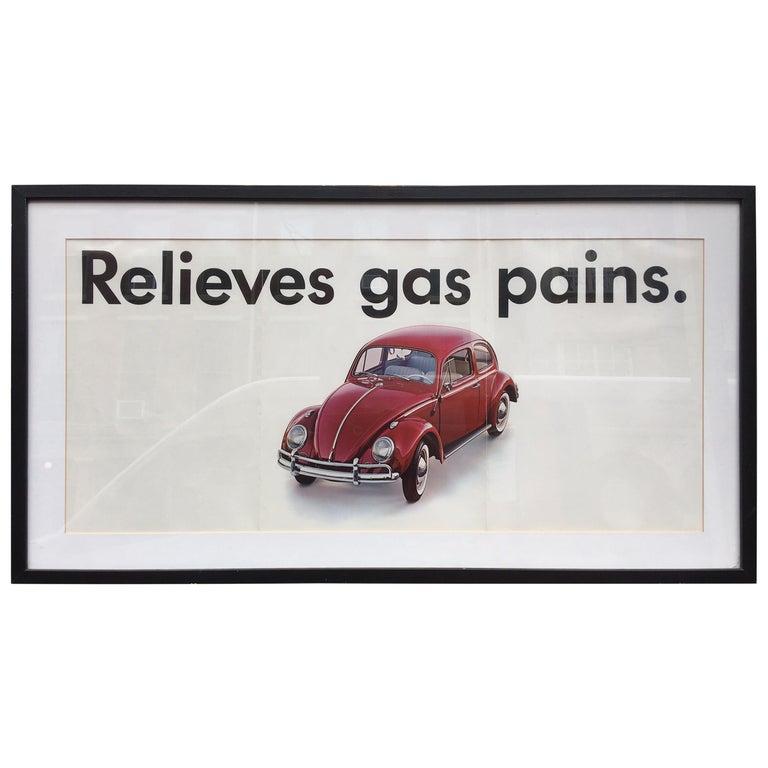 Original VW 1960's Dealer  Poster For Sale