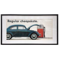 Original VW Dealership Poster