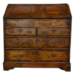 Original Walnut Queen Anne Secretary Desk /Bureau
