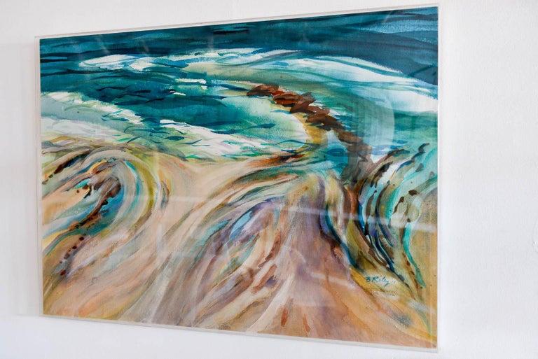 Mid-Century Modern Original Watercolor by California Artist, Bernice Riley, 2013 For Sale