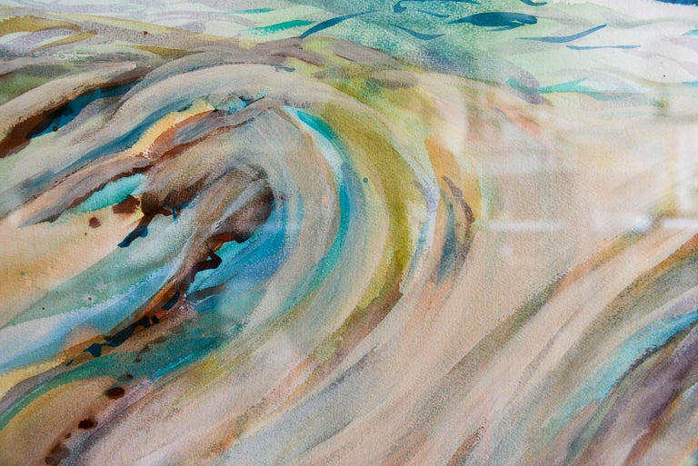 American Original Watercolor by California Artist, Bernice Riley, 2013 For Sale