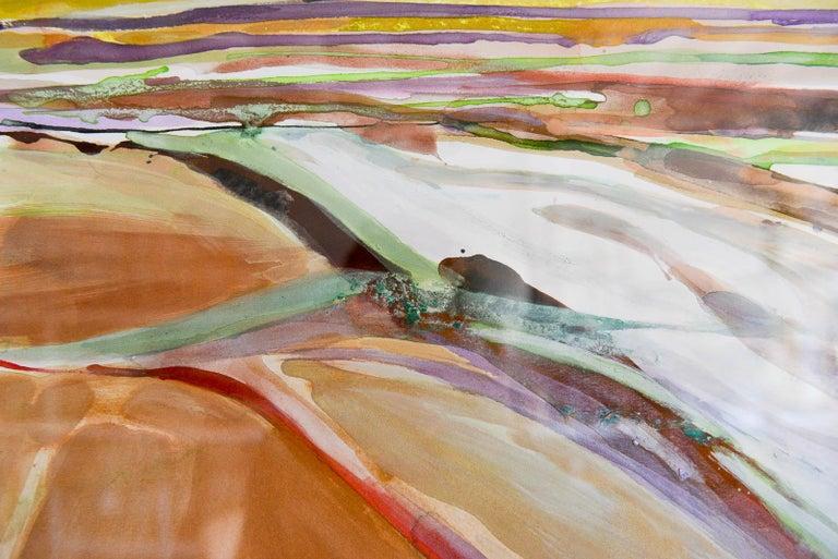 Original Watercolor by California Artist, Bernice Riley, 1998 In Good Condition For Sale In Costa Mesa, CA
