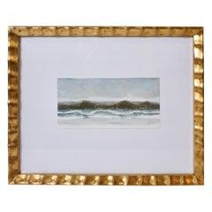 Original Watercolor in Gold Frame