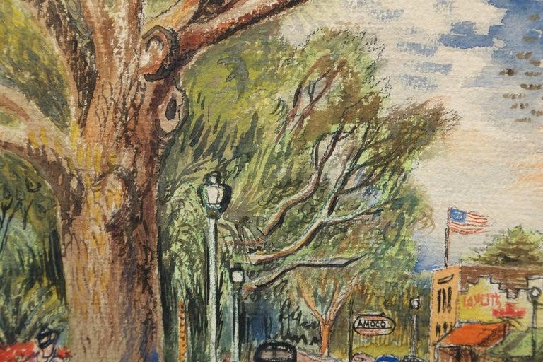 20th Century Original Watercolor of Winter Park, Florida by David Burliuk For Sale