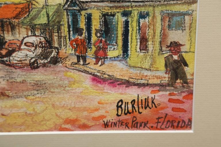 Original Watercolor of Winter Park, Florida by David Burliuk For Sale 1