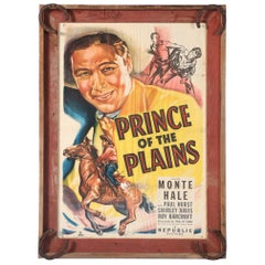 """Original Western Movie Poster of """"Prince of the Plains"""", Starring Monte Hale"""