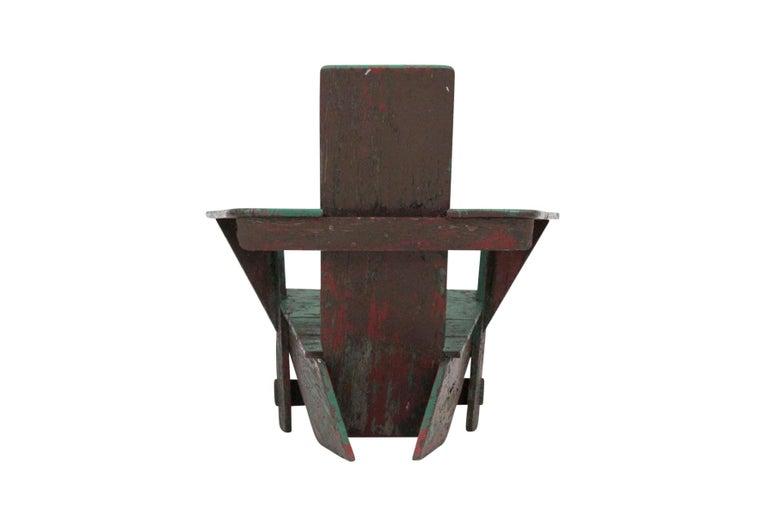 Original Westport Chair by Harry Bunnell In Distressed Condition For Sale In Pawtucket, RI