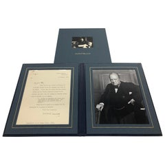 Original Winston Churchill Signed Letter to Commodore Allen, February, 1956