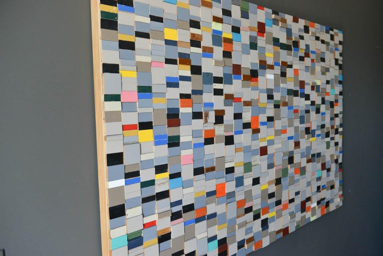 Modern Original Wood Wall Relief by Michelle Peterson-Albandoz, 2015 For Sale