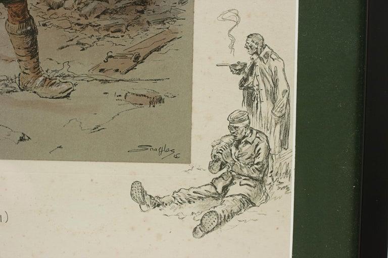 Early 20th Century Original WW1 Military Print, Jock 'K.I' For Sale