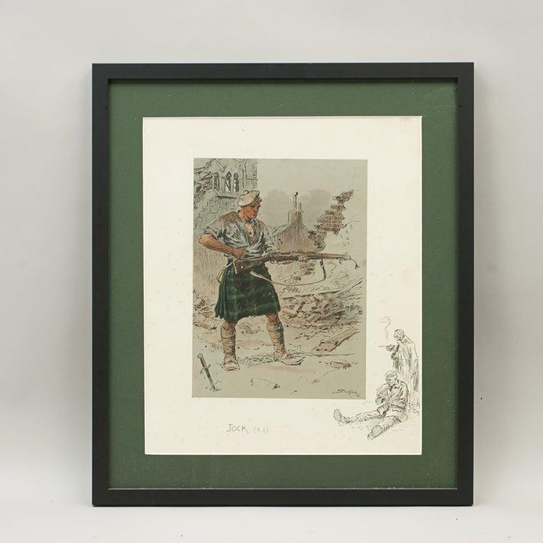 Original WW1 Military Print, Jock 'K.I' For Sale 1