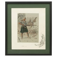 Original WW1 Military Print, Jock 'K.I'