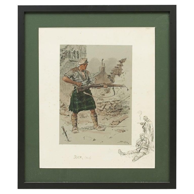 Original WW1 Military Print, Jock 'K.I' For Sale