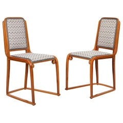 Originals 1905 of the Period Pair of Josef Hoffmann and Jacob&Josef Kohn Chairs