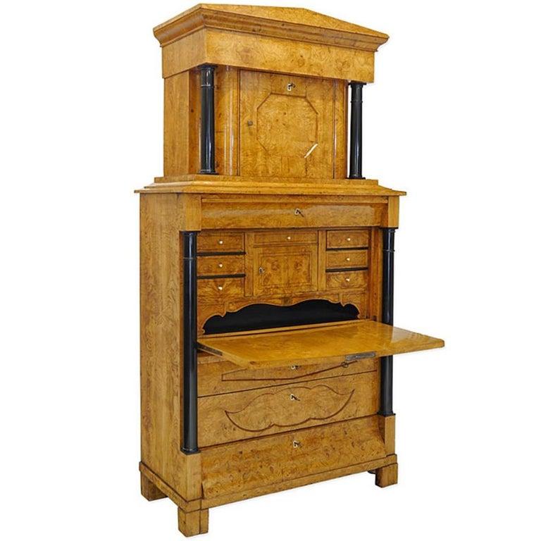 Origineller Einzigartiger Sekretär Schreibtisch Biedermeier Aus