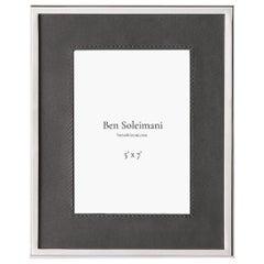 "Ben Soleimani Orilla Picture Frame - Pewter 5"" x 7"""