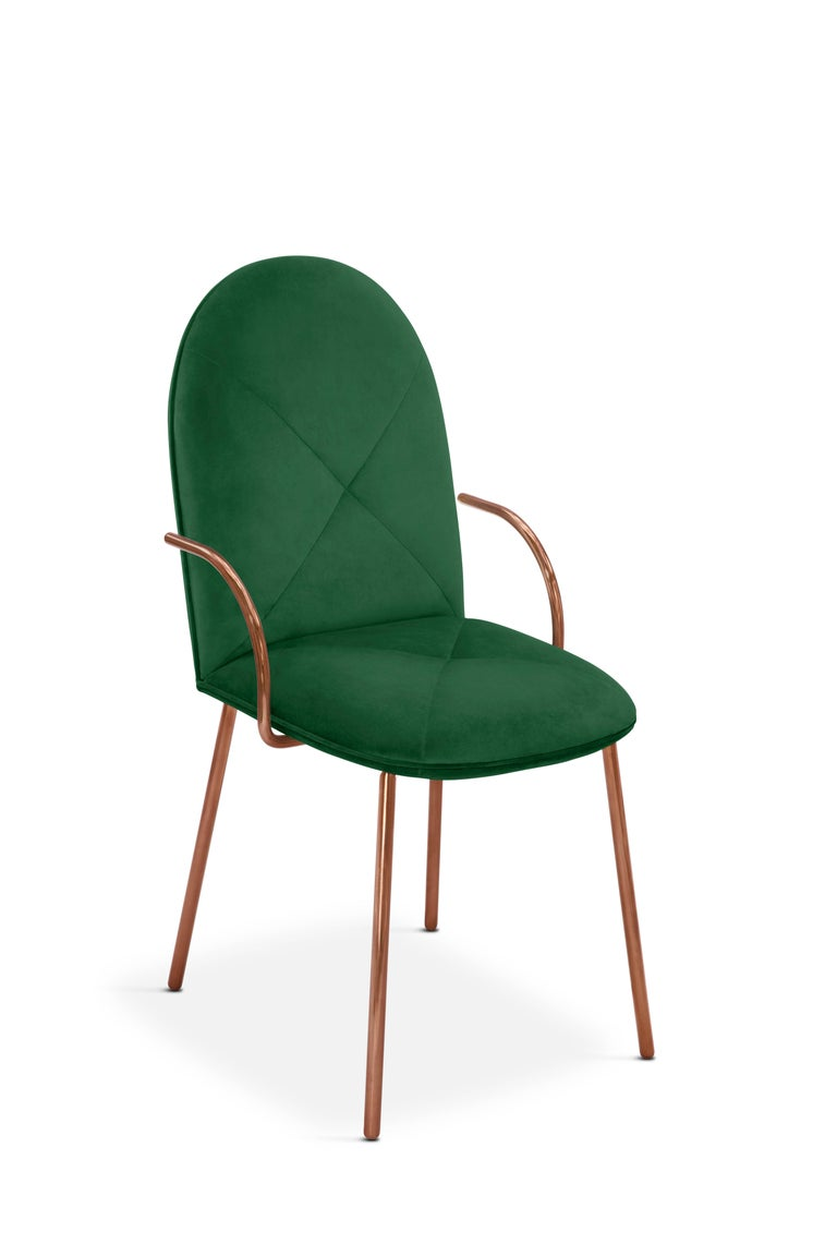 Contemporary Orion Chair Green by Nika Zupanc for Scarlet Splendour For Sale