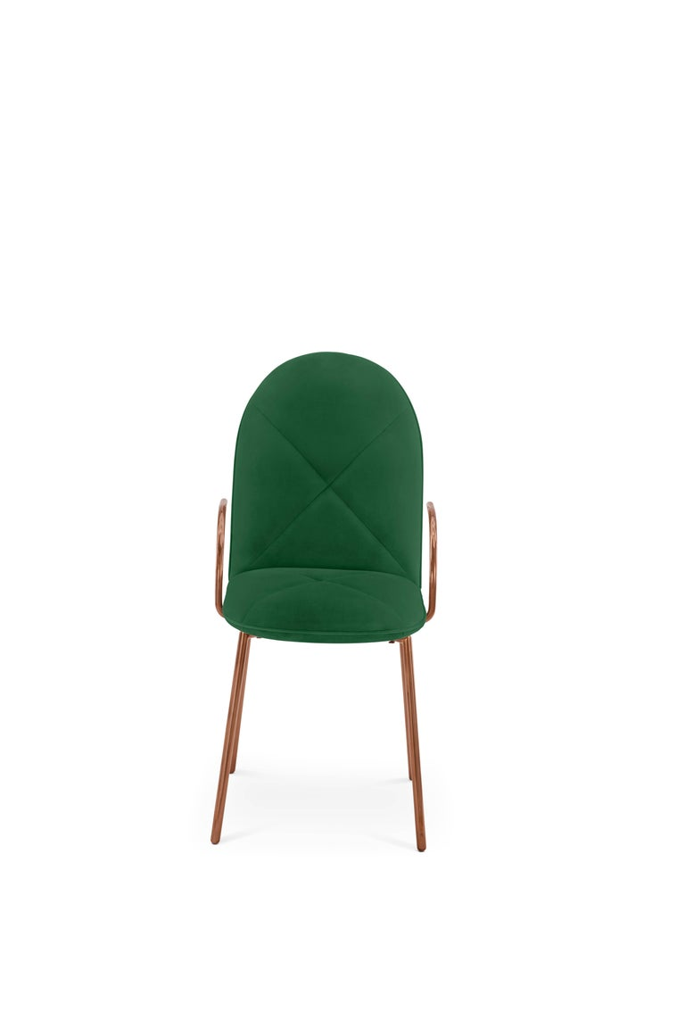 Orion Chair Green by Nika Zupanc for Scarlet Splendour For Sale 1
