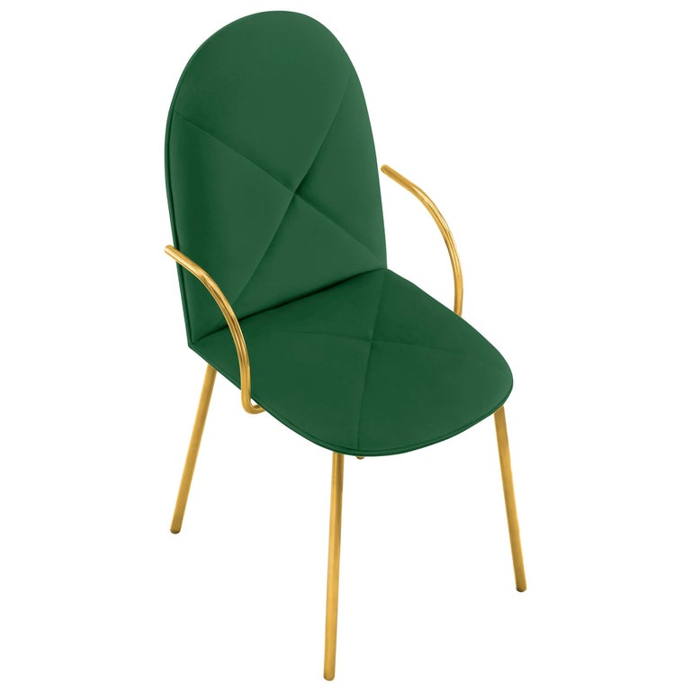 Orion Chair Green by Nika Zupanc for Scarlet Splendour For Sale