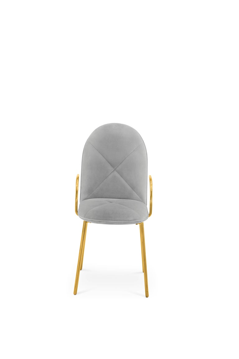 Orion Chair Grey by Nika Zupanc for Scarlet Splendour  The 88 constellations of the universe mysterious and magical, holding a promise to guide our destinies. Little wonder that they are the muse for the 88 Secrets, Nika Zupanc's debut collection of