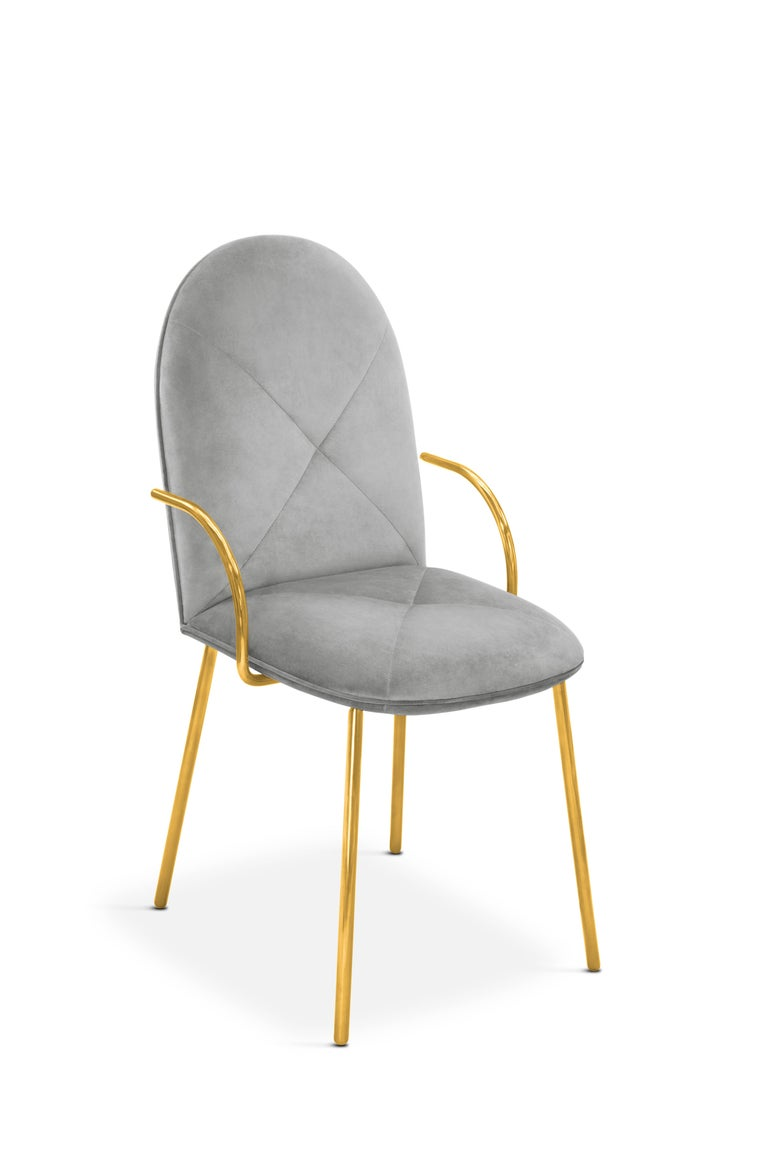Indian Orion Chair Grey by Nika Zupanc for Scarlet Splendour For Sale