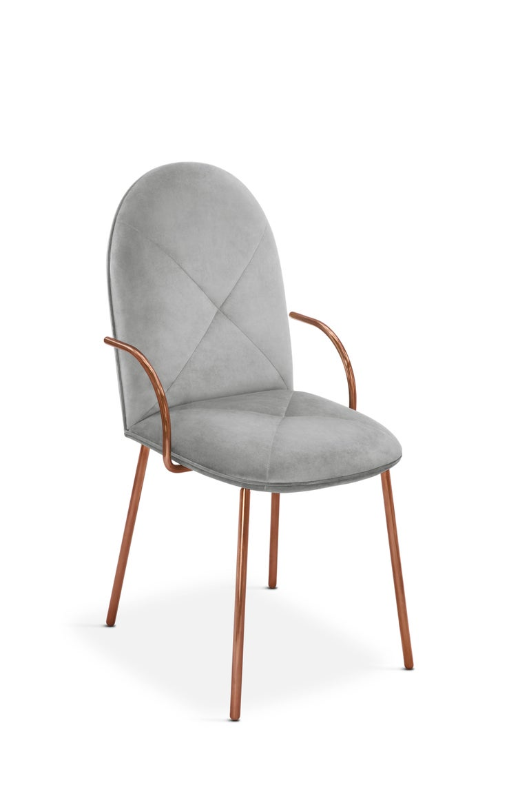 Orion Chair Grey by Nika Zupanc for Scarlet Splendour In New Condition For Sale In Firenze, IT