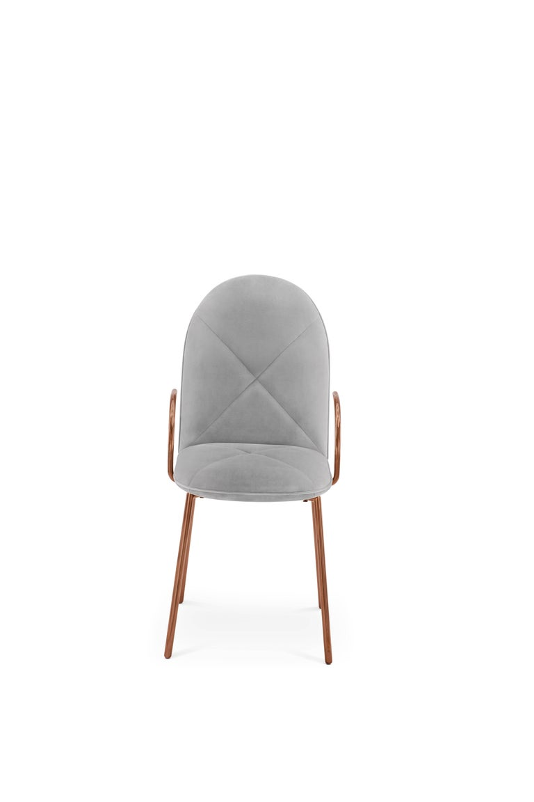 Contemporary Orion Chair Grey by Nika Zupanc for Scarlet Splendour For Sale