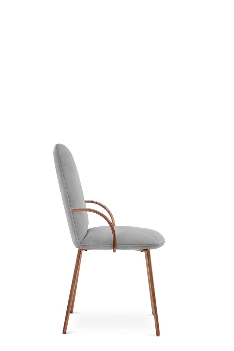Gold Orion Chair Grey by Nika Zupanc for Scarlet Splendour For Sale
