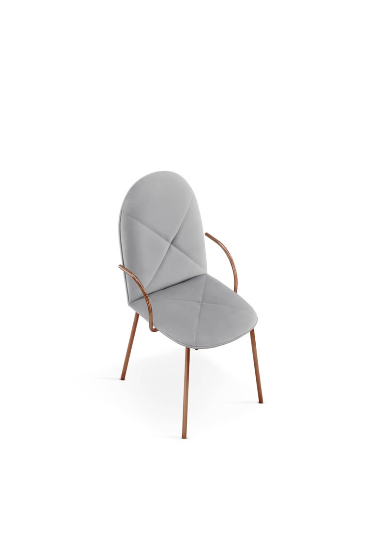 Orion Chair Grey by Nika Zupanc for Scarlet Splendour For Sale 1