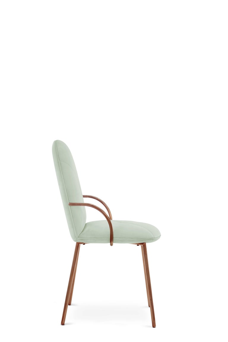 Orion Chair Jade by Nika Zupanc for Scarlet Splendour In New Condition For Sale In Firenze, IT