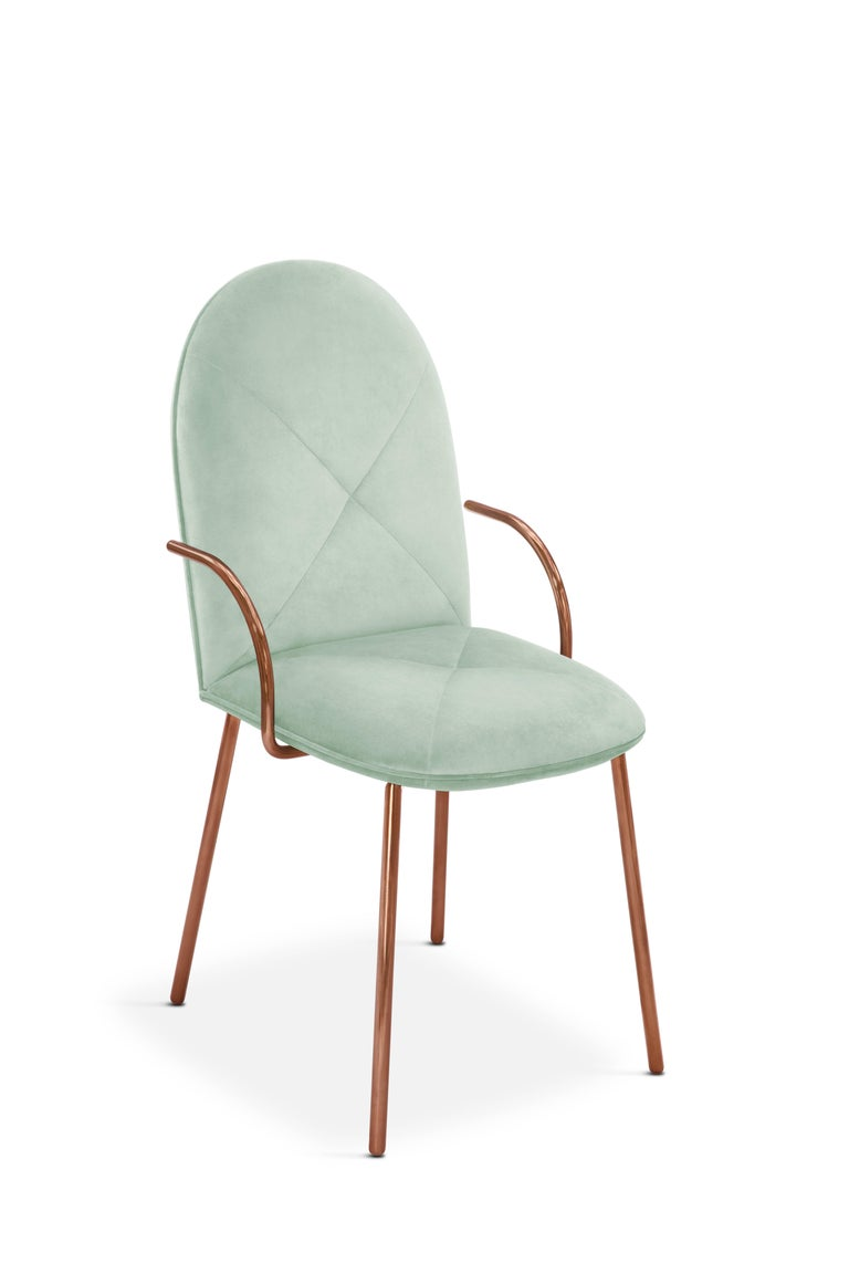 Contemporary Orion Chair Jade by Nika Zupanc for Scarlet Splendour For Sale