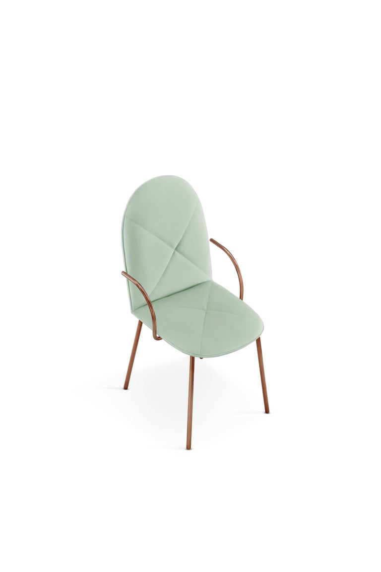 Gold Orion Chair Jade by Nika Zupanc for Scarlet Splendour For Sale